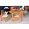 5-Pc Dinette Set In Oak Finish 5250-51 (CO)