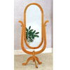 Single Pedestal Solid Oak Cheval Mirror 5262 (CO)