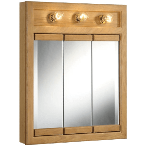 Design House 530592 Richland Lighted Mirrored Medicine Cabinet