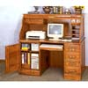 Deluxe Oak Roll Top Computer Desk 5307 (CO)