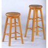 Oak Finish Swivel Seat Stool 536_ (CO)