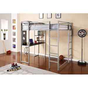 Abode Full Metal Loft Bed over Workstation 5457096(WFS279)