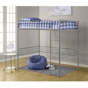 Dorel Full Size Metal Loft Bed 5472_(WFS219)