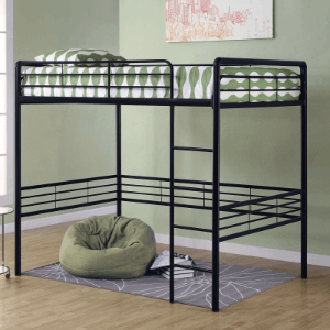 DHP Full Metal Loft Bed (Multiple Colors)(300 Lbs Weight Capacity)