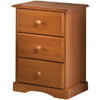 Solid Pine Nightstand With 3 Drawers 552_(PI)