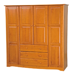 Solid Wood Family Wardrobe 596-(PIFS)