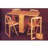 5-Piece 2x22ÃÃ Drop Leaf Butterfly Table/Chair Set 6216 (A)