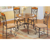5 Pc Marble Top Dining Set 6239-45/50 (WD)