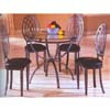 5-Pc Comtemporary Black Dinette Set 6244-45/50 (WD)