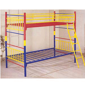 Twin/Twin Rainbow Bunk Bed  7316(ABC)
