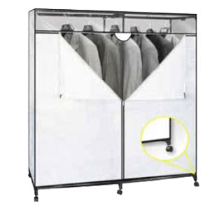 60 Inch Portable Closet With Wheels 676 (SHFS)