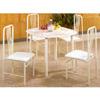 5-Pc Set Ivory Metal Dining Set 688 (CO)