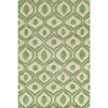 Hand Tufted Modern Waves Green Polyester Rug 14618631(OFS141
