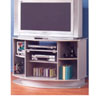 TV Stand In Sliver Finish 700022 (CO)