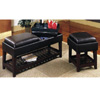 Black Vinyl Bench 700288 (CO)