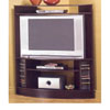 Corner TV Stand In Cappuccino Finish 700603 (CO)