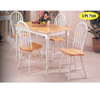 5-Piece Natural/White Finish Dinette Set 7007 (A)