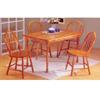 5 Pc Oak Finish Dining Set 7014 (A)