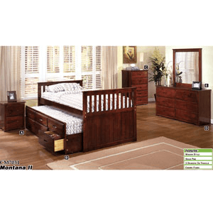 Montana II Captain Trundle Bed CM-7031 (IEM)