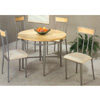 5-Pc Sandy Nickel & Maple Veneer Dinette Set 7055/56 (CO)