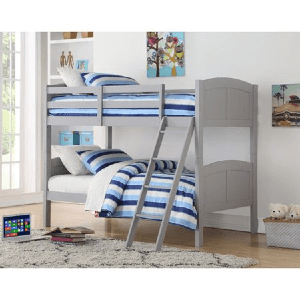 Angel Line Creston Twin Over Twin Wood Convertible Bunk Bed (Multiple Colors)