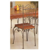 Pine And Metal Dining Chair 7383 (CO)