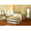 4-Piece Black Metal Hand Painted Bedroom Set 7389 (CO)