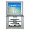 Gray/Silver Finish T.V. Stand 7583 (CO)