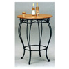 Sandy Black Bar Table With Cherry Wood Top 7609 (CO)