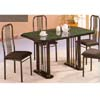 5-Pc Green and Black Marble Dining Set 780-36 (WD)
