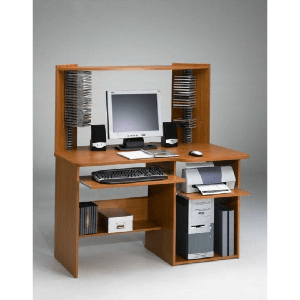 Student Computer Desk with Hutch (Multiple Colors)