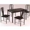 5-Pc Black Dinette Set 895-30A/50A (WD)