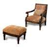 Accent Chair In Oak Finish with Ottoman 900051 (CO)