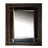 Pewter Finish Mirror with Weave Style 900169 (CO)