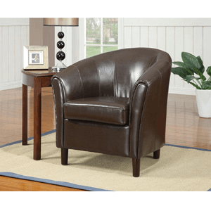 Barrel Chair with Wood Legs 900275(CO)