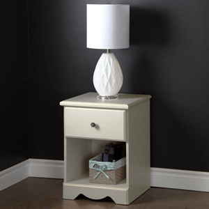 Country Poetry 1 Drawer Nightstand White Wash