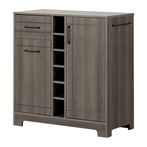 Bar Cabinet with Bottle and Glass Storage