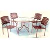 4-Piece Steel/PVC Strap Table Set 91102 (LB)