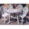 5-Piece White Resin Patio Set 91161 (LB)