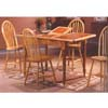 5-Pc Natural and Terra Cotta Dining Set 9245 (WD)
