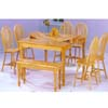 5-Pc Natural Solid Dining Set 9254 (WD)