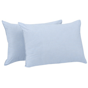 HUGE Pillow 20 In. x 28 In. in Blue and White Stripe