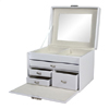 White Leather Jewelry Box With Drawers 96014(OI)