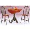 3-Pc Green and Oak Dining Set 9755 (WD)