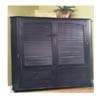 Black Entertainment Center 970904BLK-AB-KD (LN)