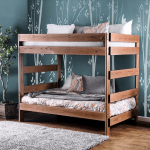 Solid Wood Arlette Mahogany Full over Full Bunk Bed
