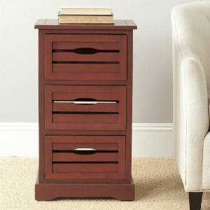 Safavieh Samara Cherry Storage 3-Drawer Cabinet AMH5713D(OFS)