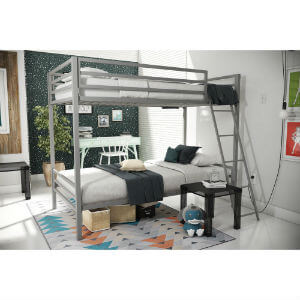 Novogratz Maxwell Metal Bunk Bed AMW1295(HYFS)(450 Lbs Weight Capacity)