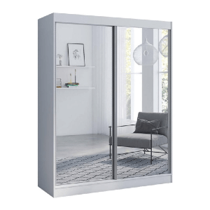 All Mirror Fronts Modern High Gloss Wardrobe Ar-moire (Multiple Colors And Sizes)