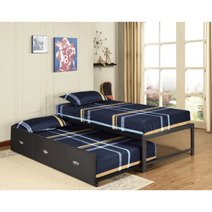Metal Twin-size Daybed Frame with Trundle Bed (Multiple Colors)